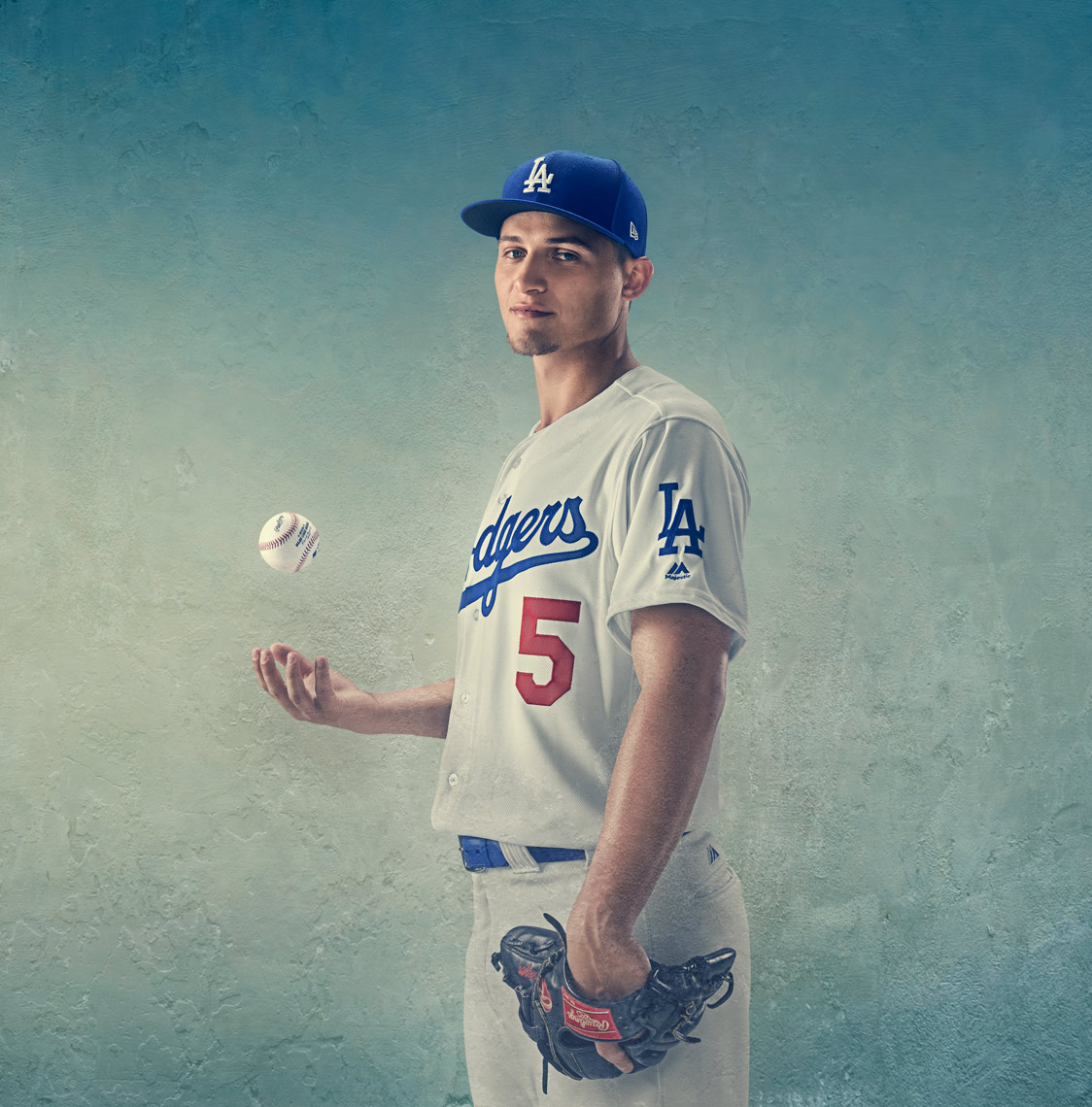 Corey Seager by Tim Tadder for New Era Cap Co MLB, Los Angeles Dodgers